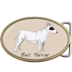 Bull Terrier Dog Belt Buckle. Code A0071